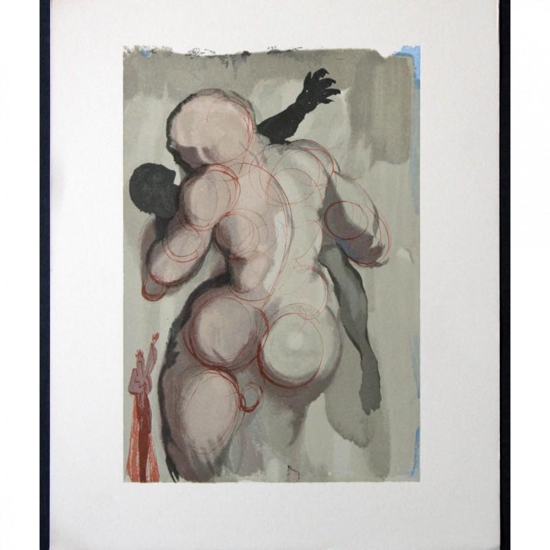 """Original Board by Salvador Dalì - """"I negligenti colti da morte violenta"""" Purgatorio Canto V"""