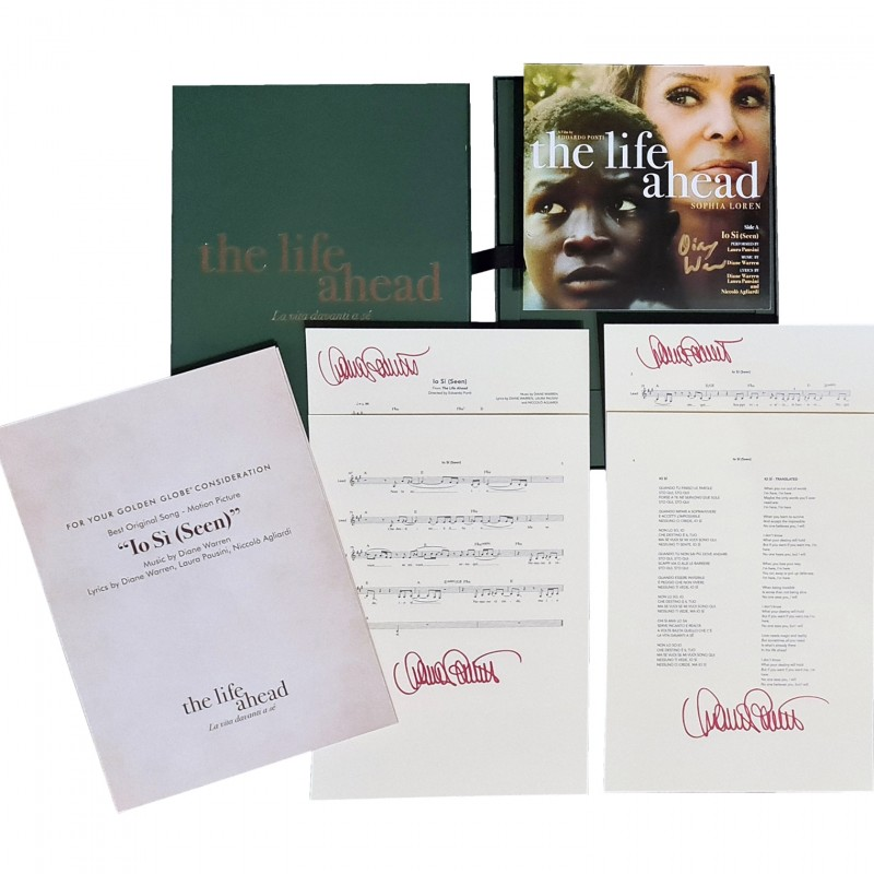 Laura Pausini and Diane Warren - Golden Globes Signed Box Set