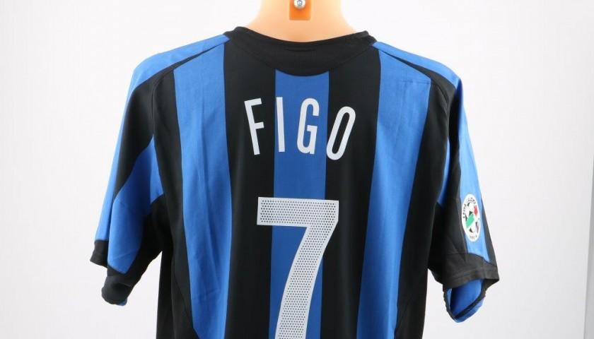 new product cd665 bebc6 Figo Inter match issued/worn shirt, Serie A 2005/2006 - CharityStars