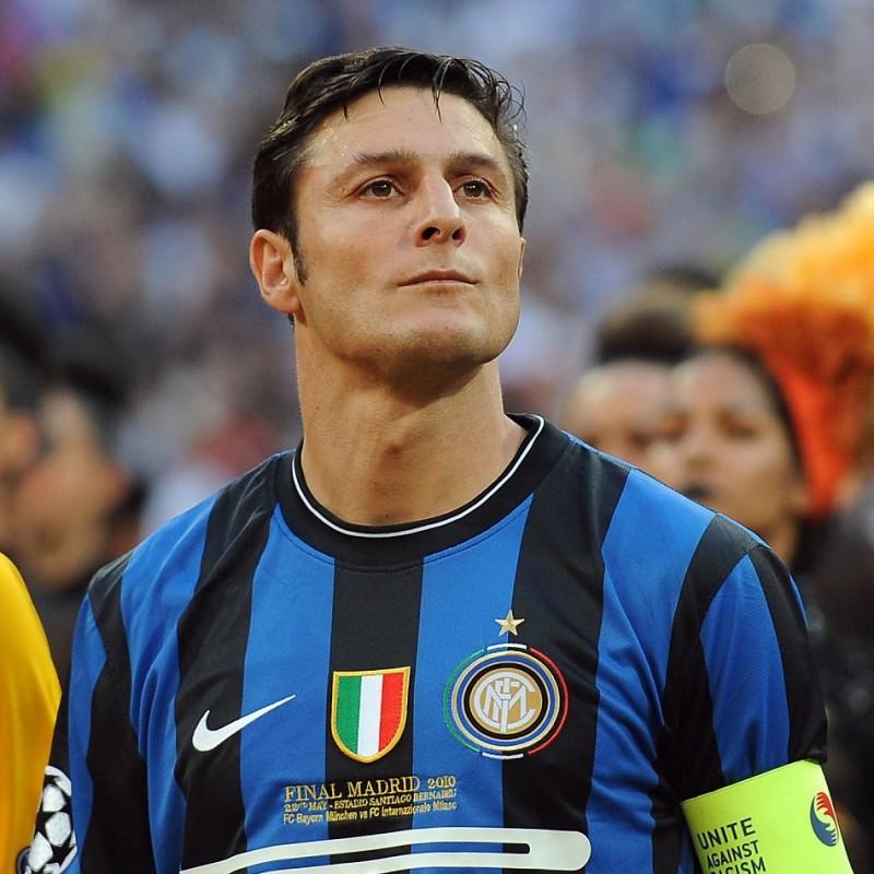 Inter Track Jacket Signed by Zanetti