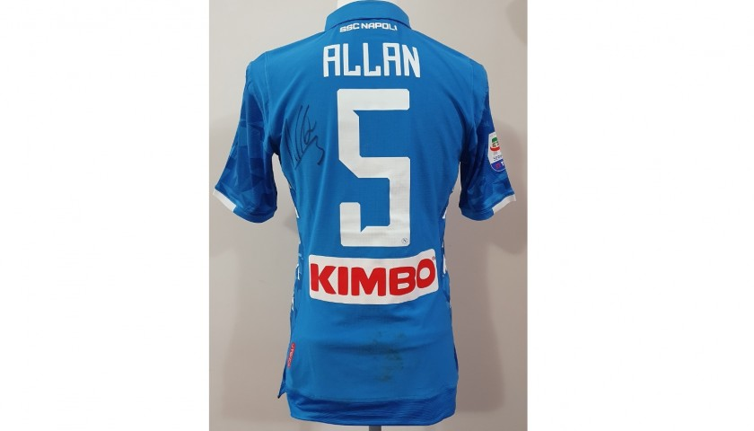 Allan's Napoli Worn and Signed Shirt, 2018/19