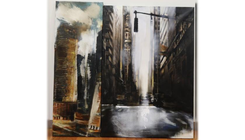 """""""Grattaceli tra Dubai e New York"""" - Diptych by Antonello Arena"""