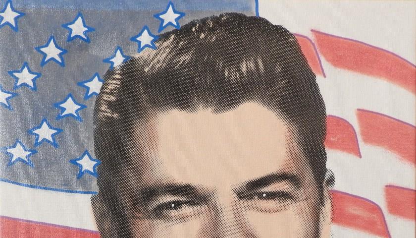 """President Ronald Reagan"" by Steve Kaufman"