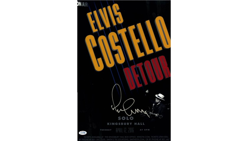 Elvis Costello Hand Signed Poster/Photo