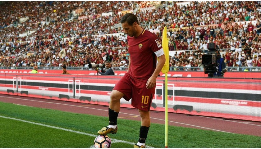 Totti's Authentic Roma Signed Shirt, Last Match
