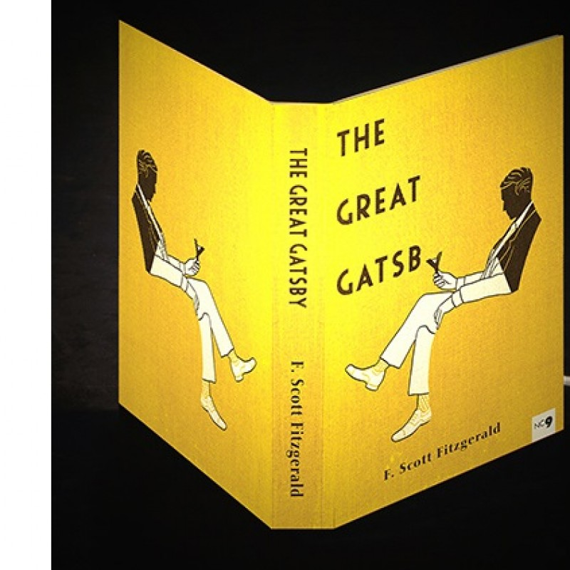 "Abat-Book ""The Great Gatsby"" lamp by Art Frigò"