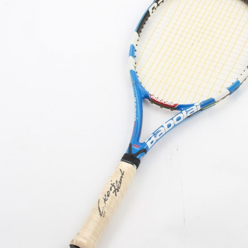Tennis racket used by Alessando Giannessi, Open BNL - signed