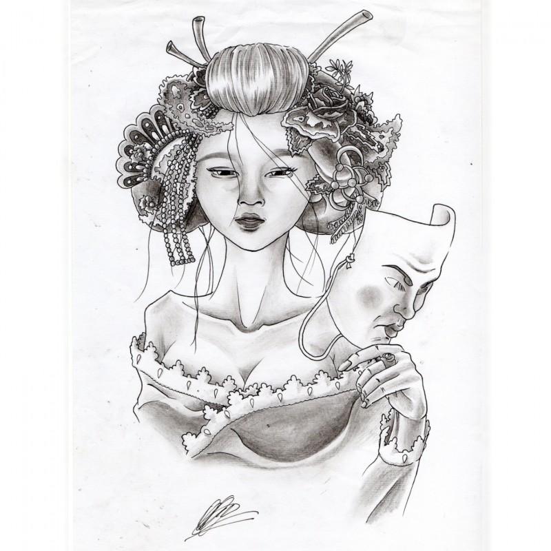 Dama D'Oriente - Unique Artwork by Manuel Frattini