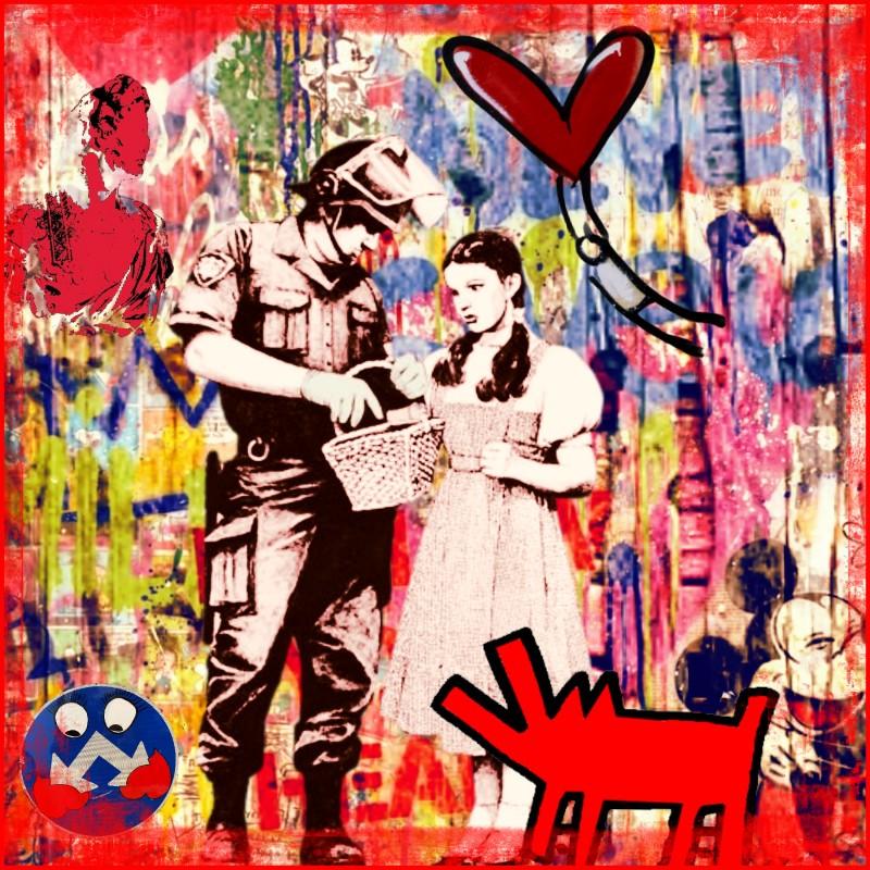 """""""Little red riding hood vs Banksy"""" by Mr Ogart"""