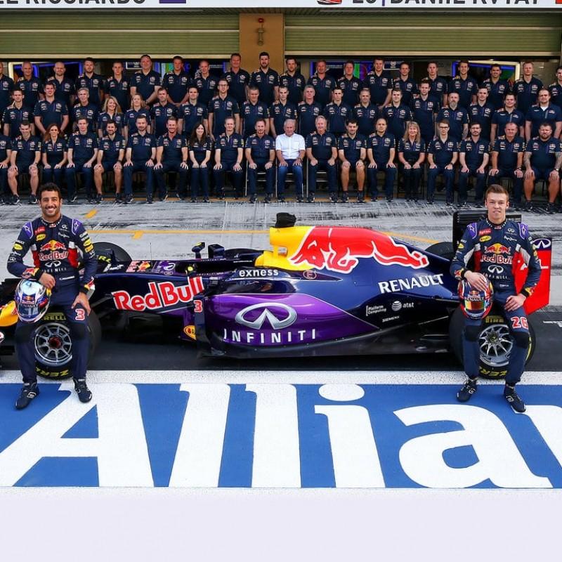 Two Women's RedBull Racing F1 Team Shirts