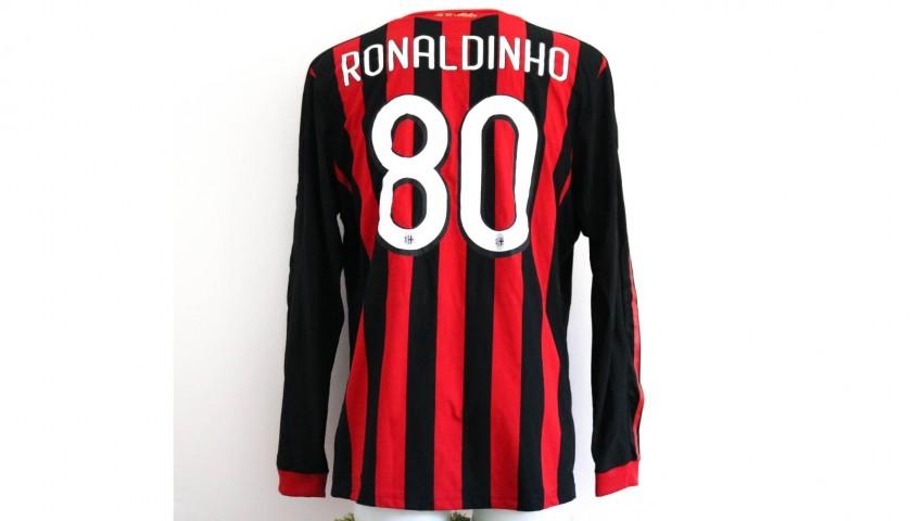 competitive price 44096 0ffe0 Ronaldinho's AC Milan Match-Issue/Worn Shirt, 2009/10 Season - CharityStars