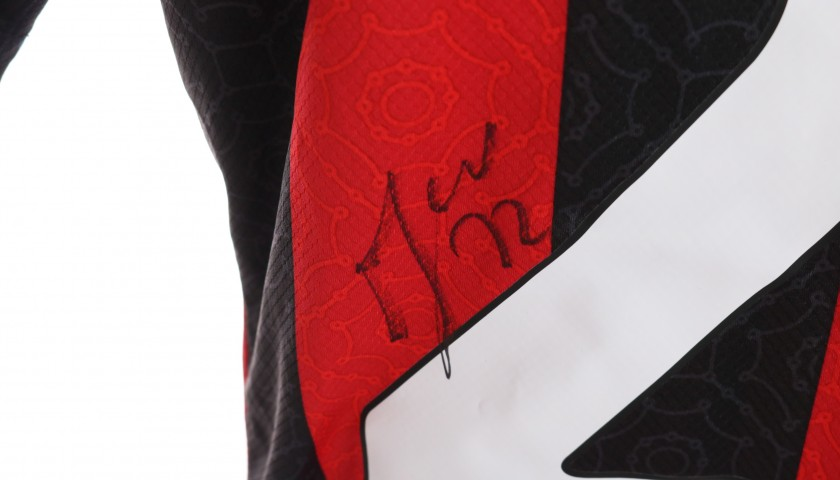 Musacchio's Worn and Signed Shirt, Milan-Torino 2021
