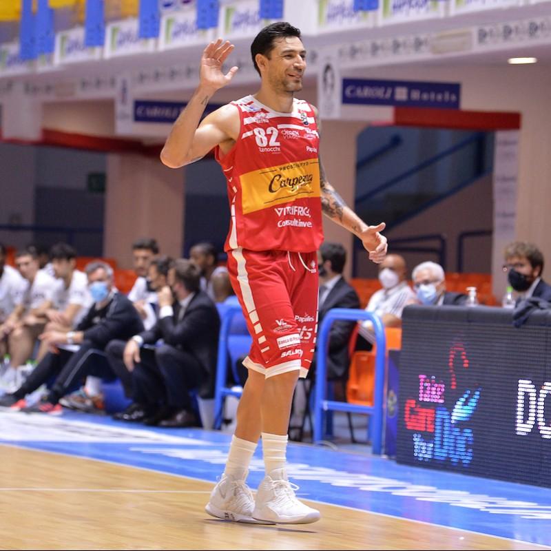 Delfino's Pesaro Basket Signed Match Jersey, 2020/21