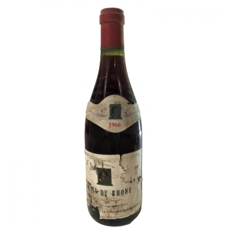 Bottle of Côtes du Rhône, 1966 - JD
