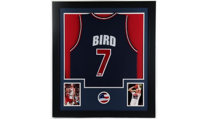 Larry Bird Signed Framed Jersey