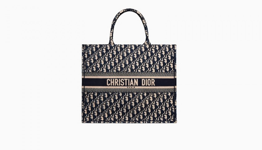 4f3a49893fa7 Dior Personalized Book Tote Bag - CharityStars