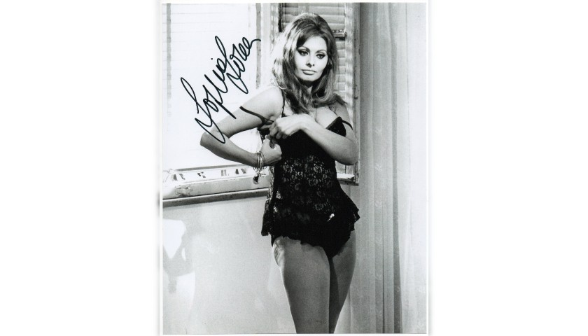 """""""Yesterday, Today and Tomorrow"""" Photograph Signed by Sophia Loren"""
