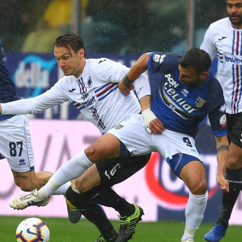 Ekdal's Worn Shirt, Parma-Sampdoria - #Blucrociati