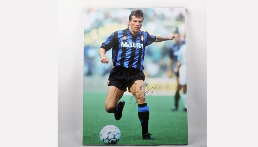 Signed Maxi-Photo of Matthäus, Internazionale FC