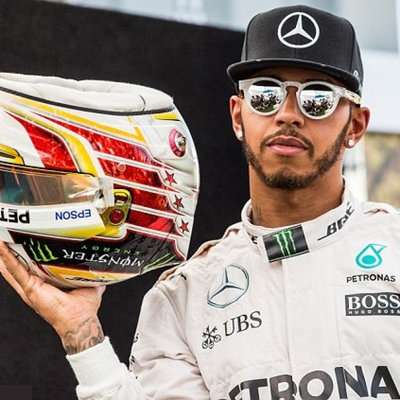 Hamilton's Signed Replica Helmet, 2015 Season