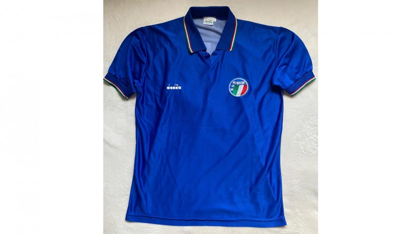 Official Baggio Italy Signed Shirt, 1990