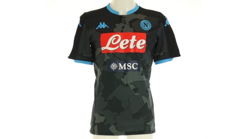 Lozano's Napoli Match-Issued Signed Shirt, 2019/20