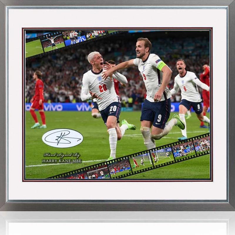 Harry Kane England Vs Denmark Euro2020 Signed Presentation