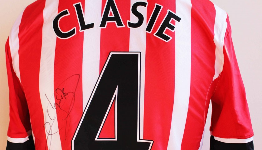 589cacc4e Jordy Clasie s Match Worn and Signed Southampton FC Poppy Shirt ...