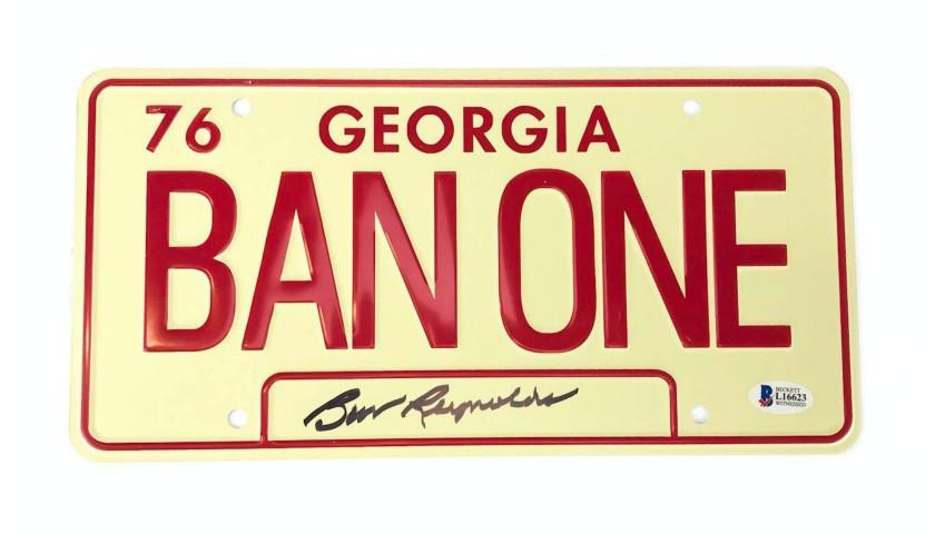"Burt Reynolds Signed""Smokey and the Bandit"" License Plate"