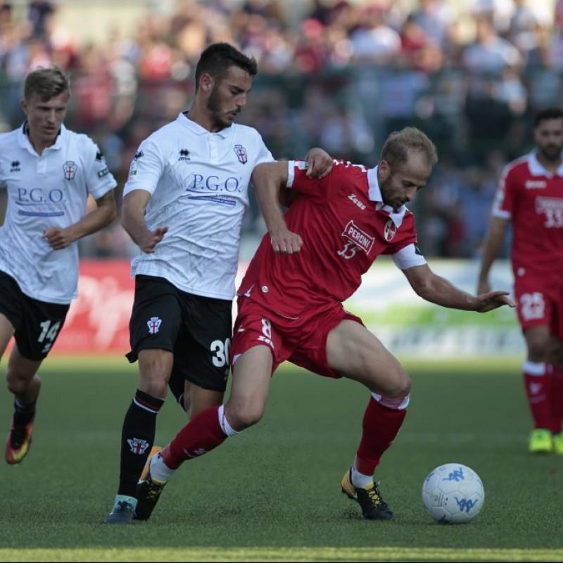 Germano's Match-Worn Pro Vercelli-Bari Shirt, 2017/18 Serie B