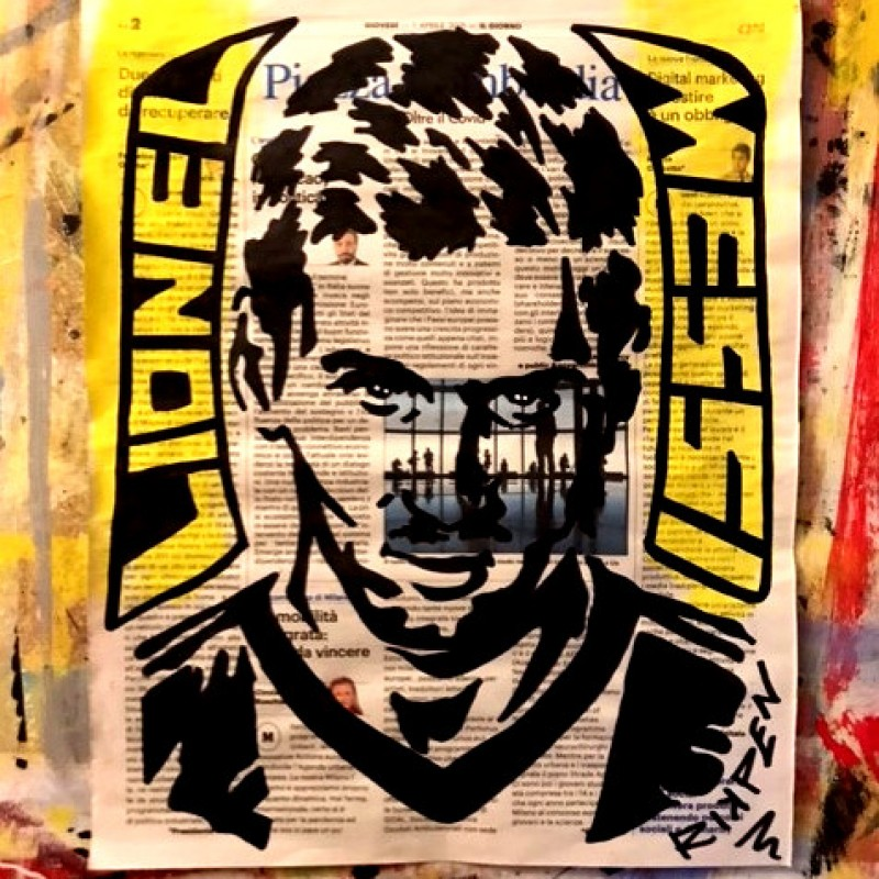 """Leo Messi"" Original Board by Riccardo Penati"