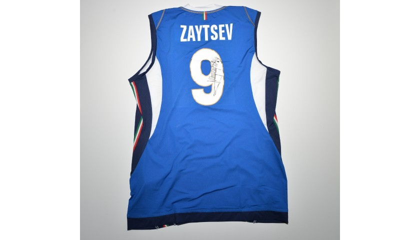 Italy Volleyball Jersey Signed by Ivan Zaytsev