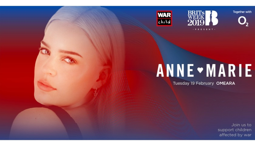 Last 2 Tickets to Anne-Marie Concert in London - Auction 2