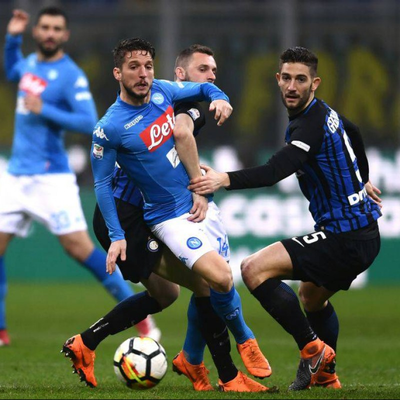Mertens' Match Shirt, Inter-Napoli 2018 - 'Ciao Davide' Patch