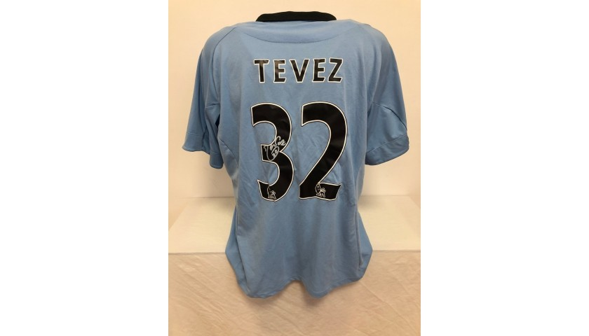 Tevez's Official Manchester City Signed Shirt, 2013/14