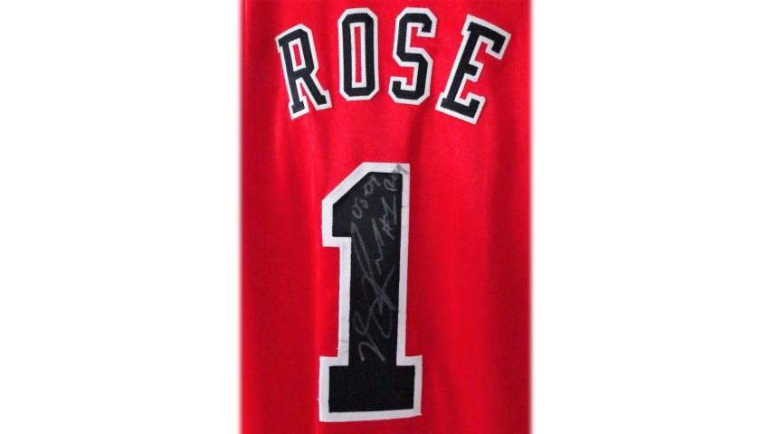 Rose's Chicago Bulls Signed Basketball Jersey, 2008/09