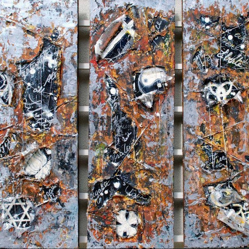 """All in Peace"" Triptych by Chantal Westby"