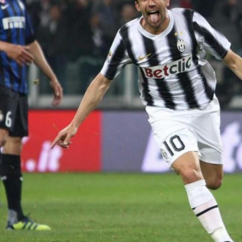 Del Piero Juventus shorts, season 2011/2012 - signed