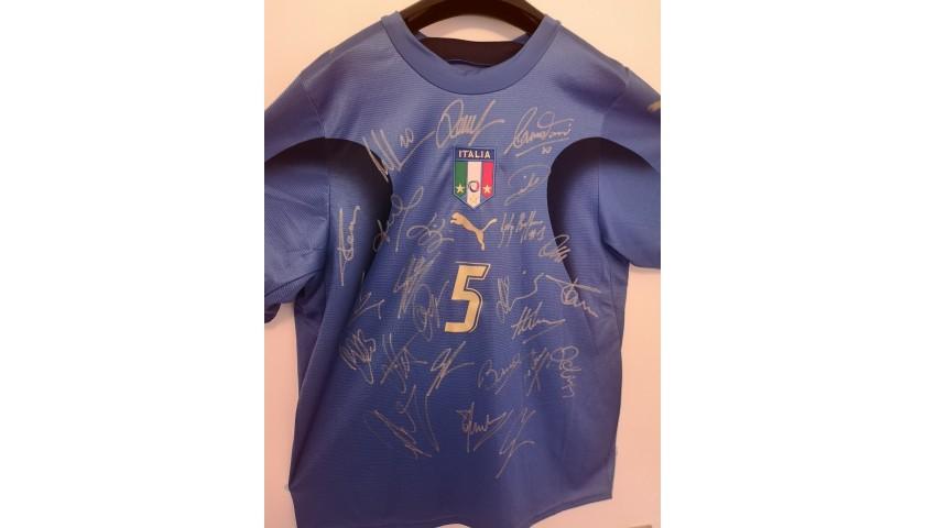 Italian 2006 World Cup Winners Squad Signed Shirt