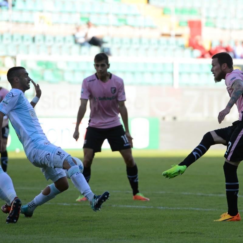 Belli's Match-Worn Palermo-Entella Shirt, 2017/18 Serie B