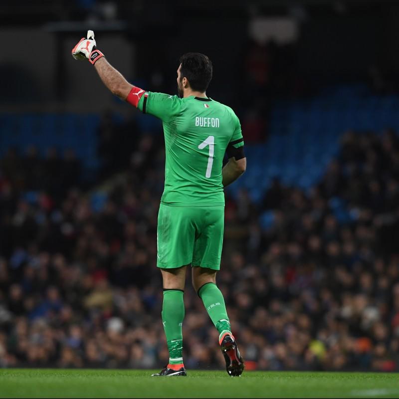 Buffon Worn and Signed Football Boots, Season 2017/18