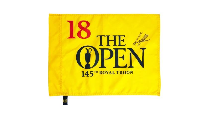 Signed Henrik Stenson Pin Flag - Open Champion 2019