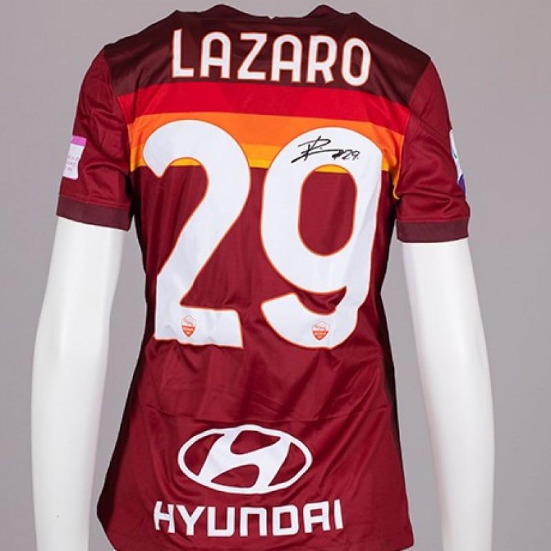 Lazaro's AS Roma Signed Shirt - Special Komen Italia