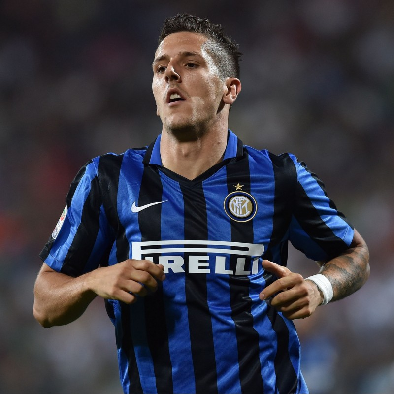 Jovetic's Match-Worn/Issued 2015/16 FC Inter Shirt - Signed