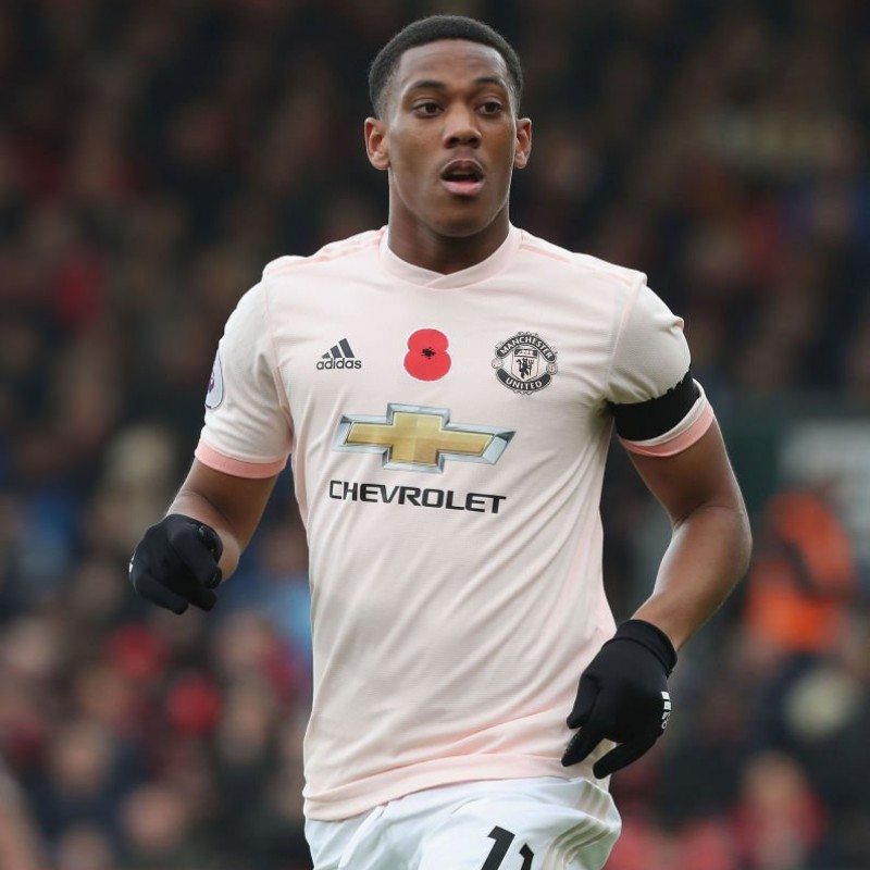 Martial's Poppy Match Shirt, Bournemouth vs Man Utd 2018