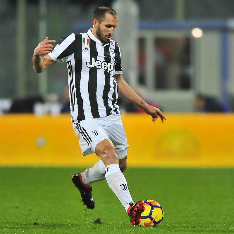 Chiellini's 2017/18 Match-Issue Puma ONE Signed Boots