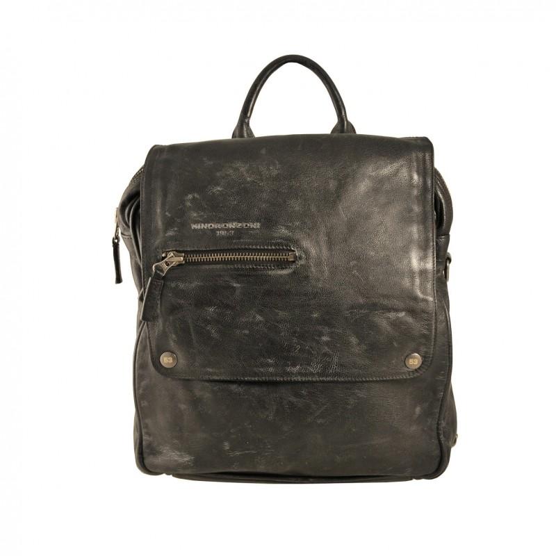 Minoronzoni men's Leather Backpack