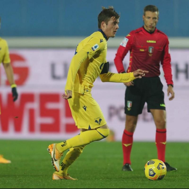 Ilic's Match Issued Shirt, Cagliari-Hellas Verona - Coppa Italia 2020