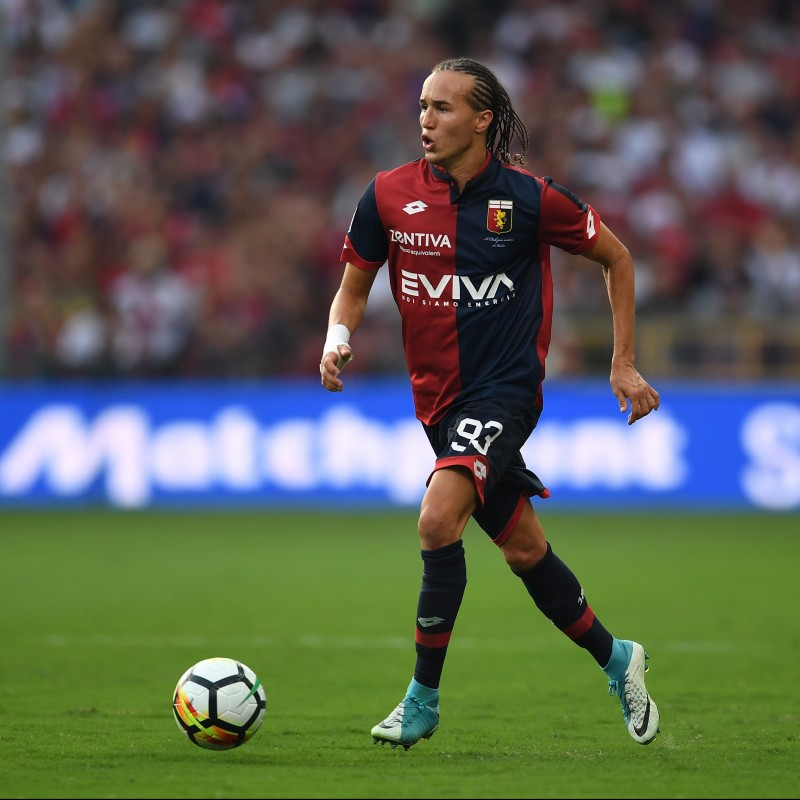 Laxalt's Signed Match-Issued Genoa Shirt, Serie A 2017/18