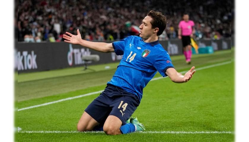 Chiesa's Match Shirt, Italy-Spain 2021